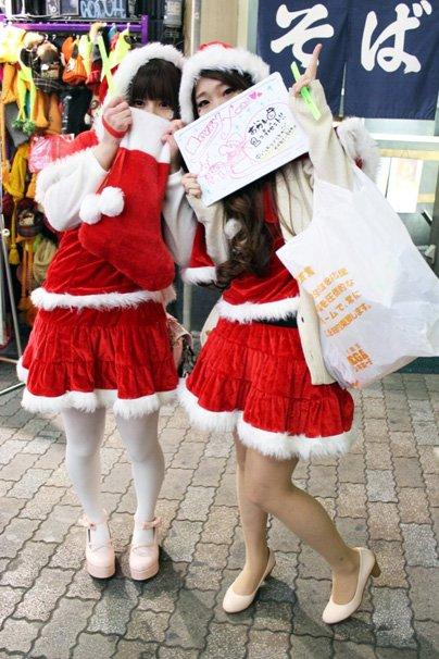 christmas eve japan tokyo shibuya santa cosplay
