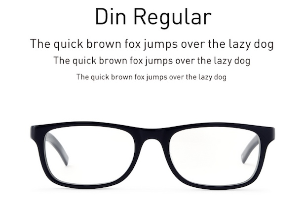 din type eyewear glasses japan