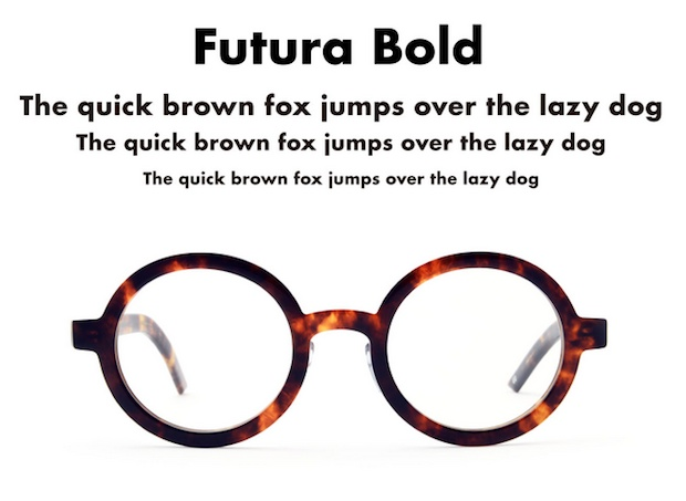 futura bold type eyewear glasses japan