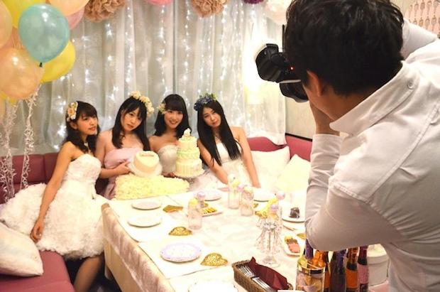 humming girls room with joysound wedding party women cosplay karaoke japan service joshikai