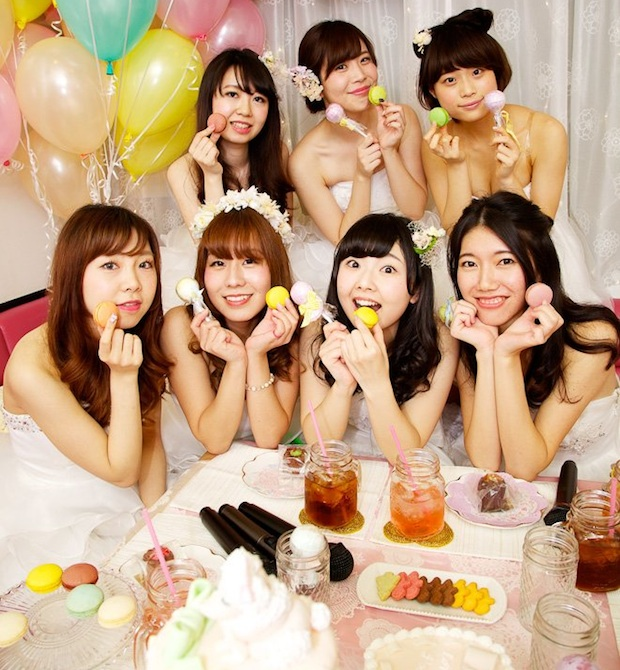 humming girls room with joysound wedding party women cosplay karaoke japan service joshikai