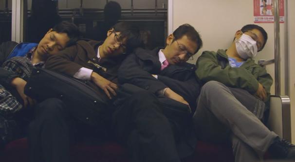 japan sleep doze train passenger commuter nippon inemuri dreamer tokyo
