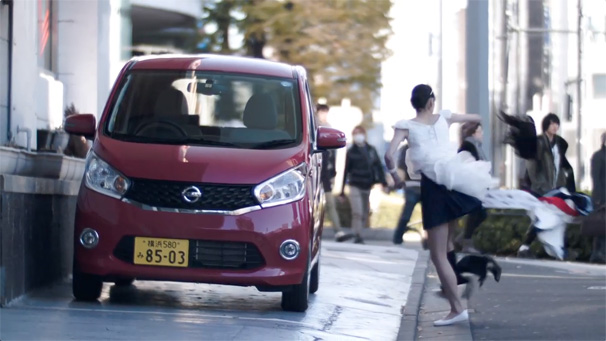 nissan flash dress-up ad dayz cinderella