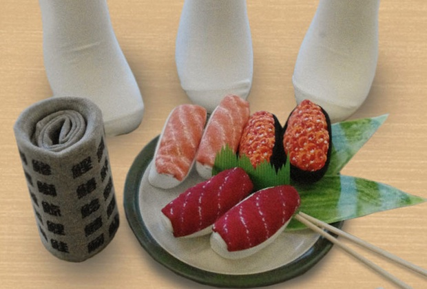 sushi socks raw fish food footwear