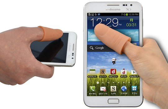 thanko thumb extender extension finger phone touchscreen