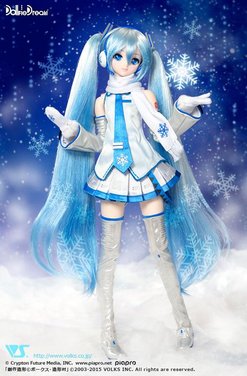 hatsune miku snow doll dollfie volks winter