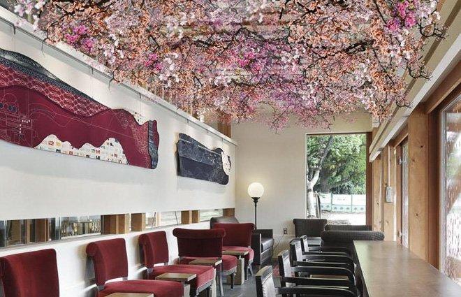starbucks spring cherry blossom design menu ueno park tokyo