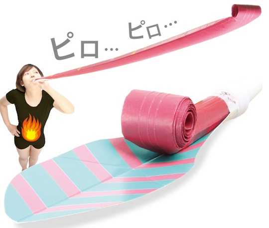 long piropiro lung exercise tool gadget japanese party horn blow