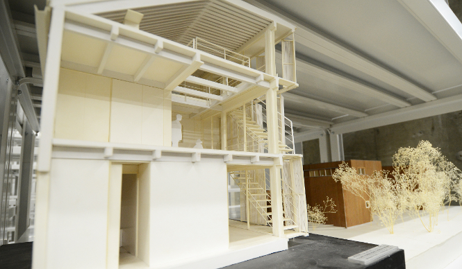 terrada warehouse depot architecture model museum japan tokyo kenchiku soko