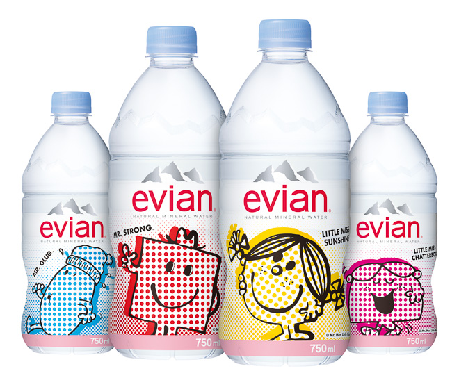 Evian Teams Up With Mr Men Little Miss For Japan Only