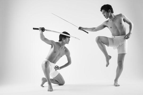 katana danshi yaoi boys love sword samurai pose photo book libre publishing