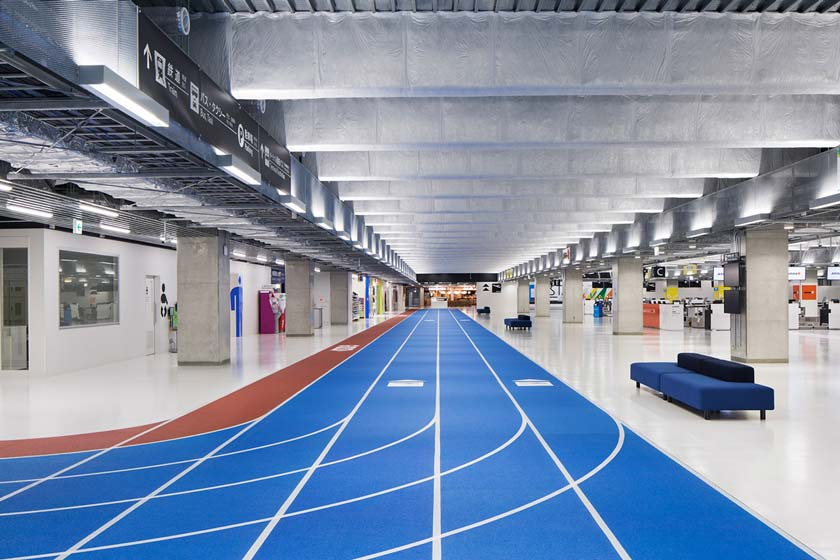 narita international airport terminal 3 lcc budget airline running track design muji furniture party open