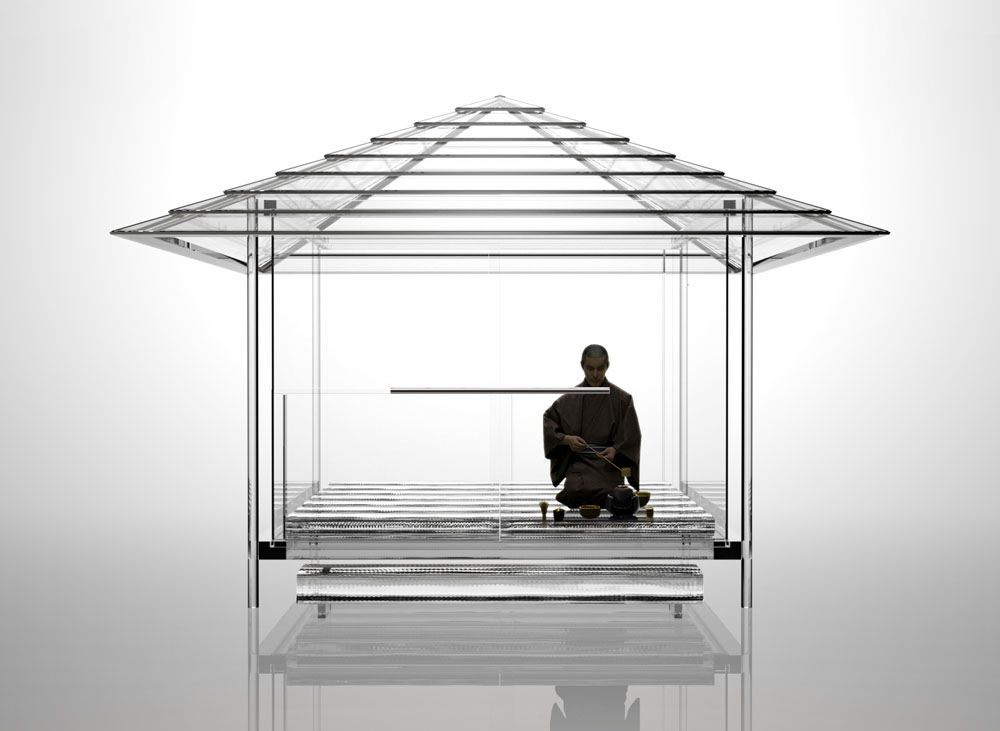 tokujin yoshioka kou-an temple kyoto seiryuden shonen-in glass tea house transparent