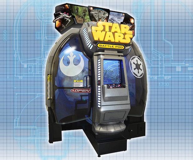 star wars battle pod arcade machine game bandai namco