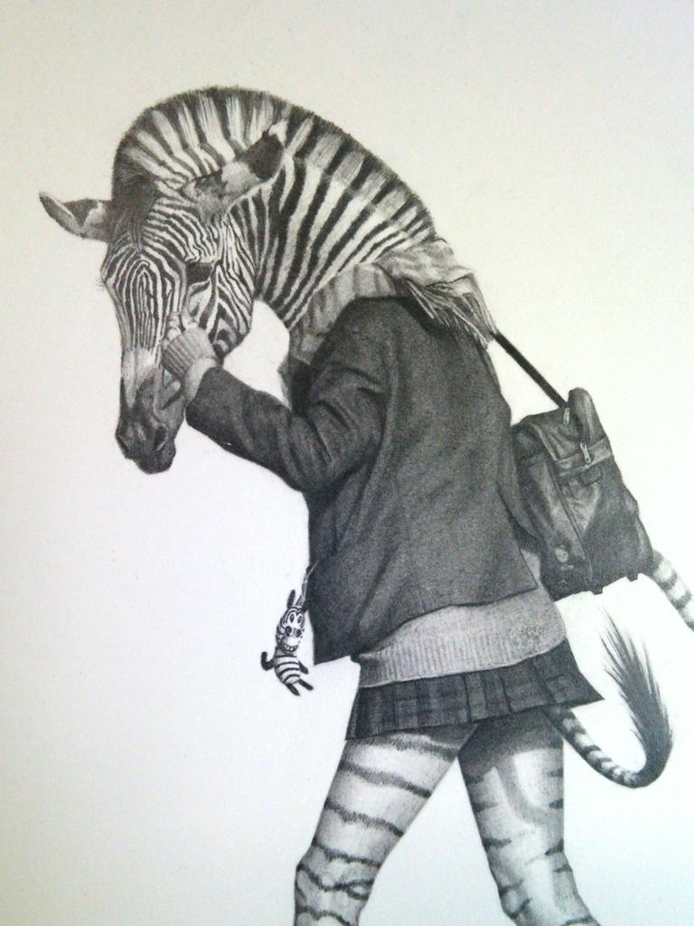 takumi kama schoolgirl animals exhibition kyoto uniform school japanese anthropomorphic art