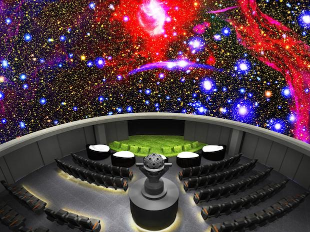 tokyo ikebukuro planetarium sunshine city grass lawn cloud seats konica minolta manten renovation
