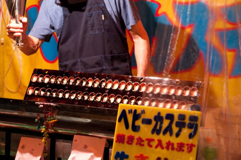 baby castella japanese food stall festival yatai