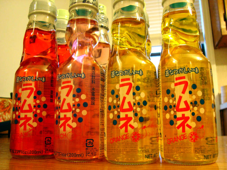 ramune japanese soda drink