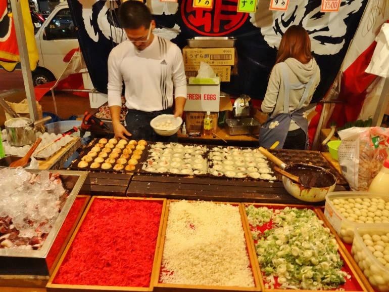 takoyaki stall food festival