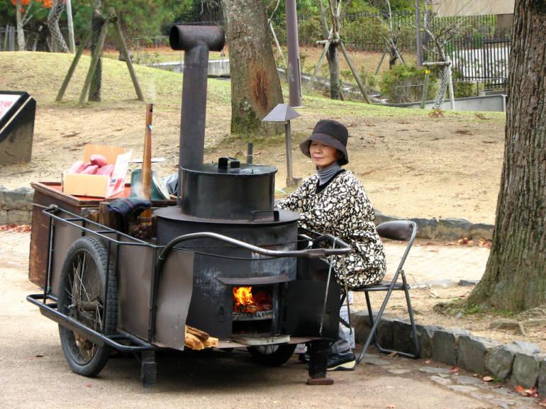 yakiimo japanese baked sweet potato vendor
