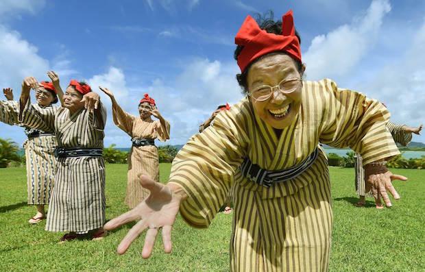 kbg84 japan grandma old women music pop idol band okinawa kohama island