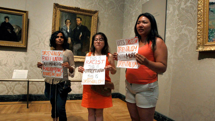 claude monet la japonaise racist orientalism protest boston museum of fine arts kimono