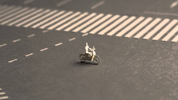 shibuya scramble crossing tokyo intersection model terada mokei paper 1/100 scale stop motion animation