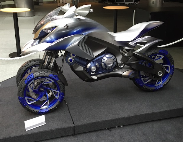 yamaha concept bike three-wheel motorbike prototype