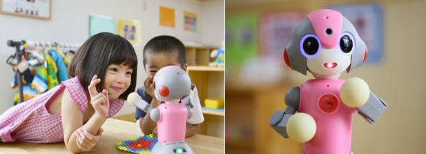 meebo robot kindergarten nursery school japan
