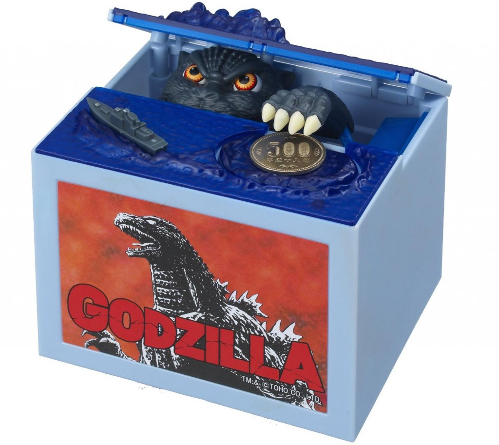 itazura godzilla money bank coin box
