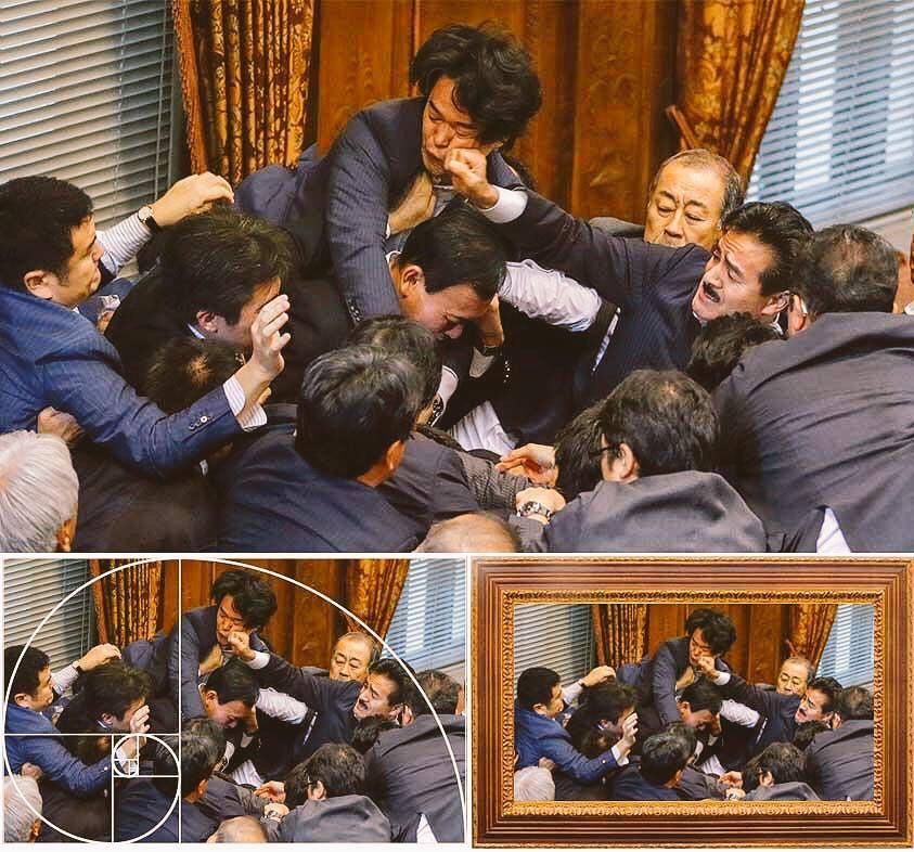 japanese security bills anpo sato masahisa brawl fistfight meme parody