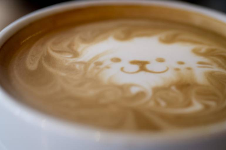tokyo hipster coffee shop late latte art