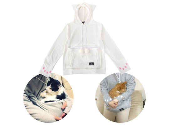 mewgaroo hoodie unihabitat new colors sizes pouch pocket pet cat sweater japanese