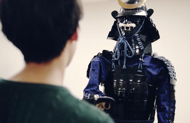 ai samurai robot japanese armor speaking talk history