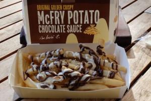 mcdonalds mcchoco mcfry chocolate french fries potato