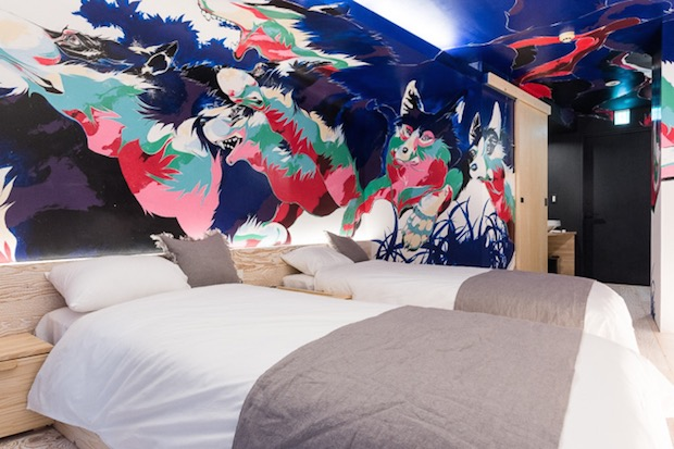 bna hotel bed art designer koenji accommodation tokyo