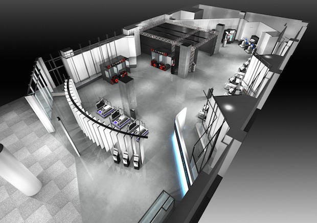 namco vr zone virtual reality tokyo japan