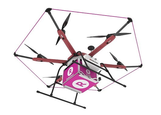 golf rakuten sora raku drone tests delivery service japan