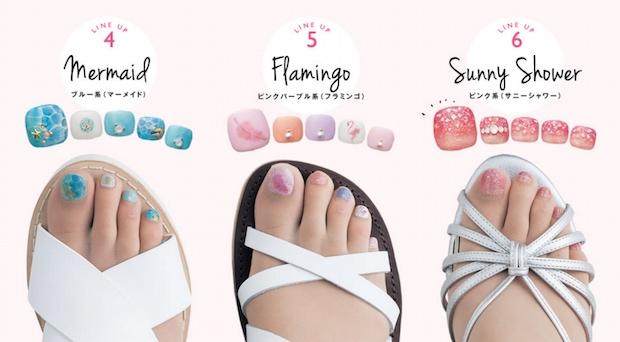 prepainted japanese toenail art polish stockings tights belle maison