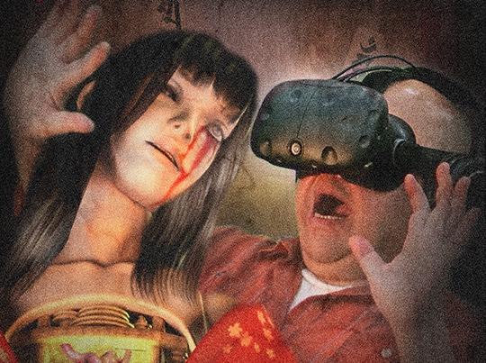 haunted house temple tokyo japan virtual reality