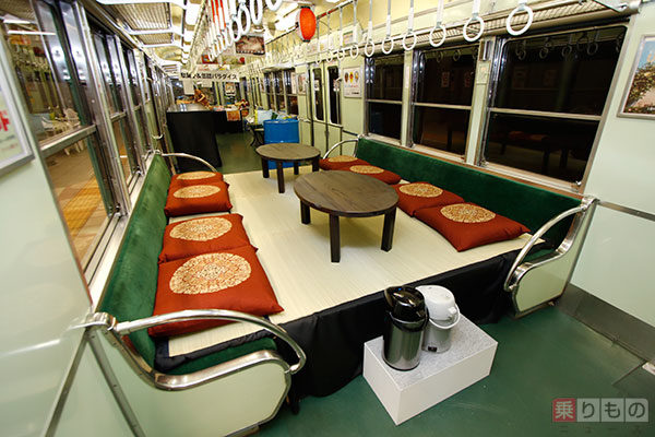 nakanoshima station keihan osaka sakaba izakaya event platform train carriage