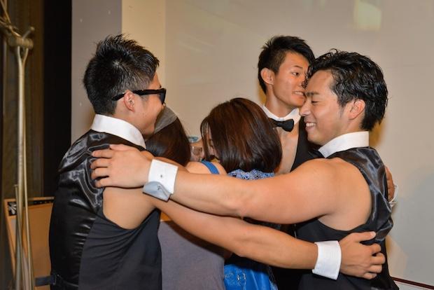 allout muscles cafe tokyo muscular stripper male men tokyo japan