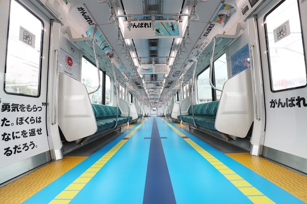 jr yamanote line running tracks rio olympics marketing sponsors train tokyo