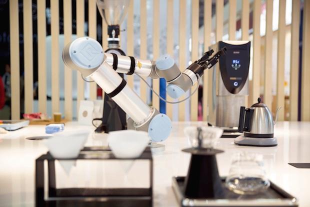 barista robot fabcafe mitsukoshi ginza