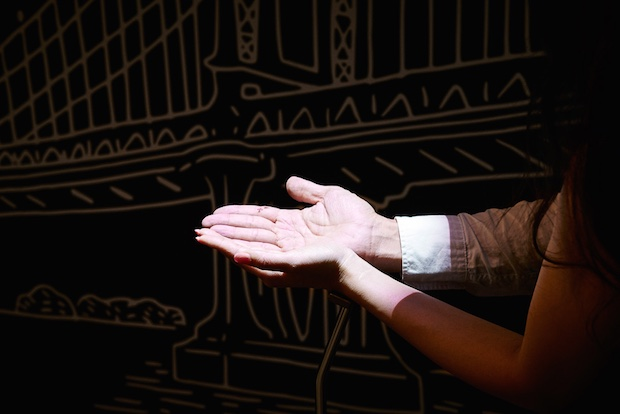 tiffany hand meets hand couples digital installation ginza tokyo