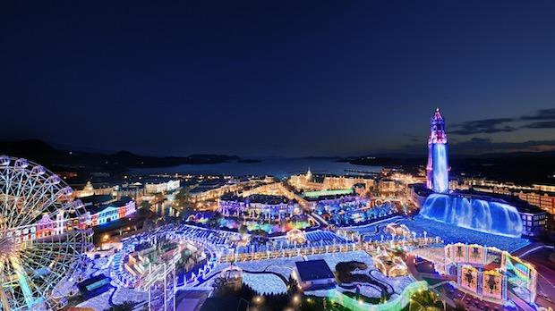 huis ten bosch theme park illumination sasebo nagasaki