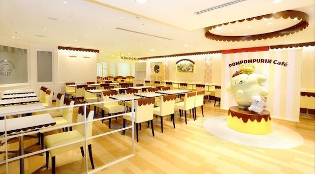 pompompurin cafe nagoya japan sanrio