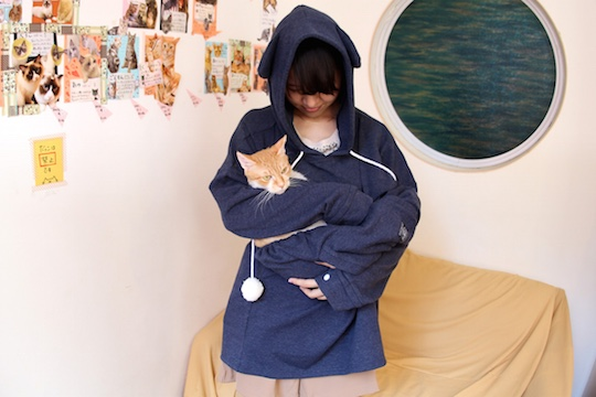 mewgaroo sweatshirt snuggle cuddle cat clothes japan