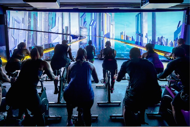 virtual reality sports gym japan tokyo shibuya the trip bike cycling