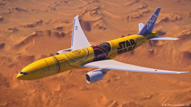 ana c3po airplane jet star wars domestic flights